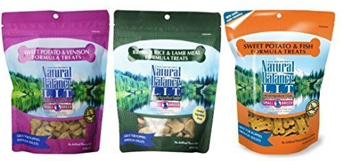 Natural Balance , Dick Van Patten's L.I.T. Small Breed Treats For Dogs 3 Flavor Variety Bundle- 8 oz Each