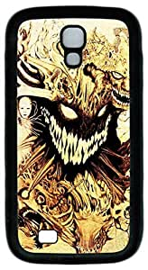 Brian114 Samsung Galaxy S4 Case, S4 Case - Protective Skin Black Soft Rubber Case for Samsung Galaxy S4 I9500 Monsters Pattern Case Cover for Samsung Galaxy S4 I9500