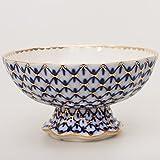 Imperial / Lomonosov Porcelain Candy Dish 'Cobalt Net'