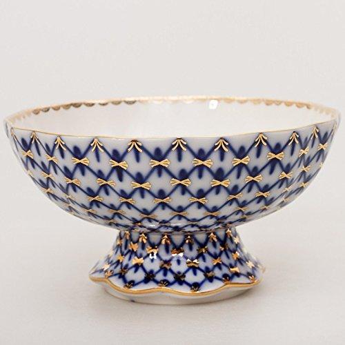 Porcelain Candy - Imperial / Lomonosov Porcelain Candy Dish 'Cobalt Net'