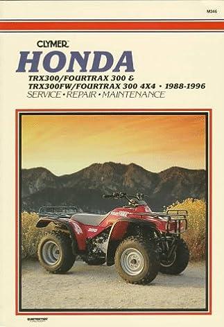 Honda Trx300 Fourtrax 300 Trx300fw Fourtrax 300 4x4 1988 1996 Rh Amazon Com  1988 Honda Fourtrax