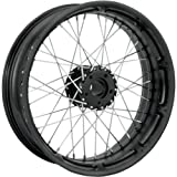 Image of Performance Machine Spoked Wire Black Ops 18x3.5 Rear Wheel , Color: Black, Position: Rear, Rim Size: 18 12746806RSPKSMP