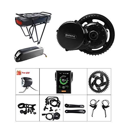 BAFANG BBSHD 1000W 48V Ebike Motor with LCD Display Mid Drive Electric Bike Conversion Kits with Battery 48V 17.5Ah