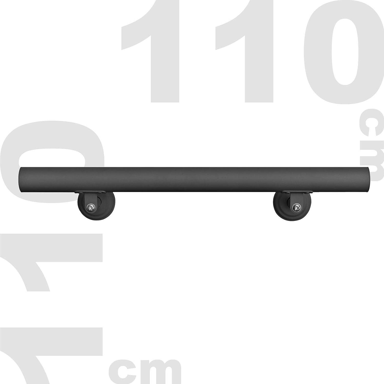 Wiltec Corrimano Attacco a Parete Muro per Scale Acciaio Inossidabile 110 cm Nero