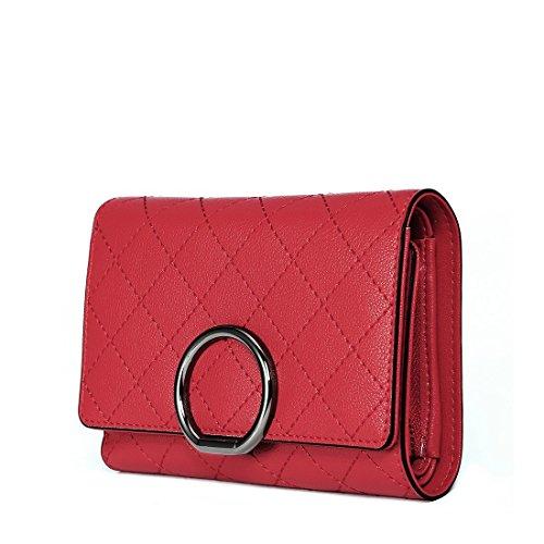 Deluxe Womans Wallet - Women Genuine Leather Wallet Elegant Deluxe Clutch Holder Purse Zipper Pocket