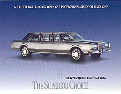 Amazon Com 1989 Superior Coach Lincoln Town Car Rwd Limo Brochure