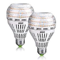 SANSI 27W (250 Watt Equivalent) A21 Omni-Directional Ceramic LED Light Bulbs, 3500 Lumens, 3000K Soft Warm White Light, E26 Medium Screw Base Floodlight Bulb, Home Lighting,Non-dimmable (2 Pack)