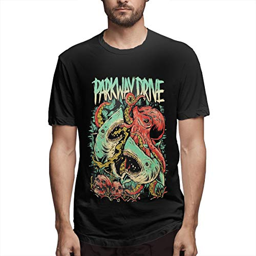 Sealiarks Parkway Drive Sharktopus Fashion Popular The Best Cool T-Shirt for Men Black]()