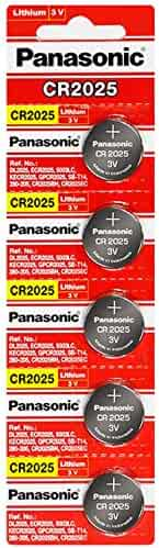 Panasonic CR2025 3 Volt Lithium Coin Battery (10 pcs)