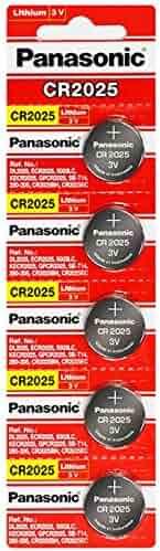 Panasonic CR2025 3 Volt Lithium Coin Battery (10 pcs)