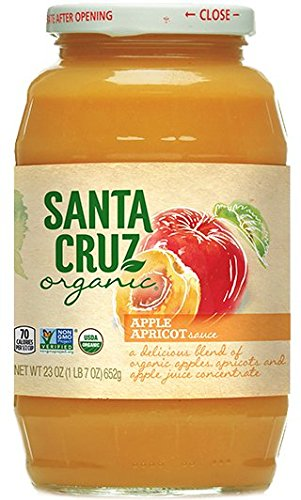 Santa Cruz Organic Applesauce, Og, Apricot, 23-Ounce (Pack of 6)
