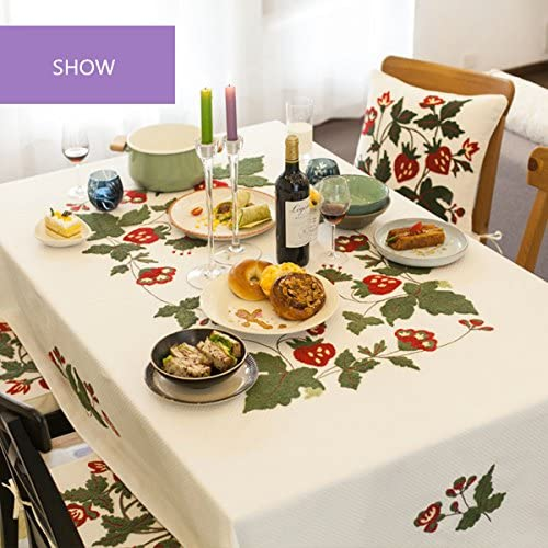 SFUDE Cotton Tablecloth Exquisite Embroidery Decorative Table Cloth, 43-Inch-by-43-Inch