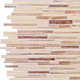 Timber Oak PVC 3D Wall Panels - Interior Design Wall Paneling Decor Commercial and Residential Application, Ornamental Brick, 3.1' x 1.6'