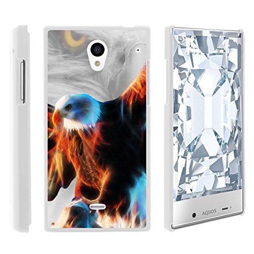Sh Eagle (AQUOS Crystal Case, Slim Fit Snap On Cover with Unique, Customized Design for Sharp AQUOS Crystal 306 SH from MINITURTLE - Blazing Eagle)