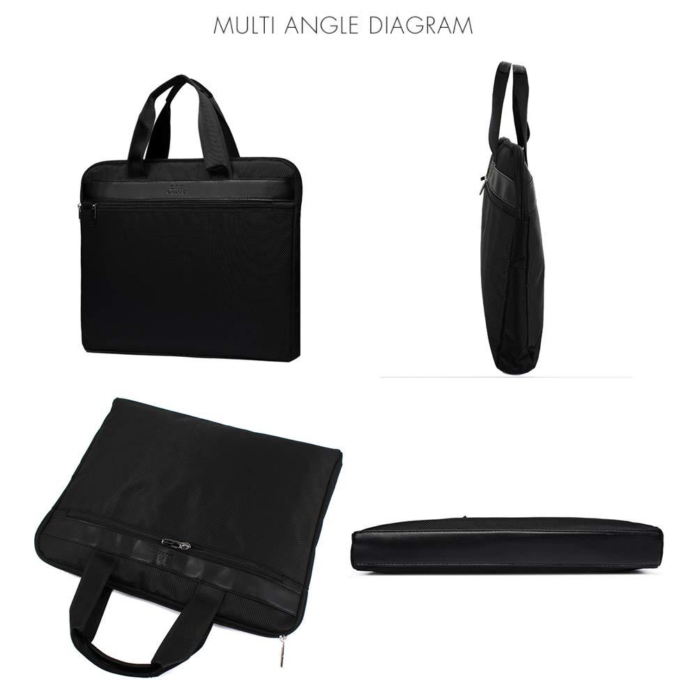 Meliya impermeabile con cerniera A4/documento borse maniglia superiore riunione conferenza Business trip borsa ventiquattrore Tote A4 Black 599