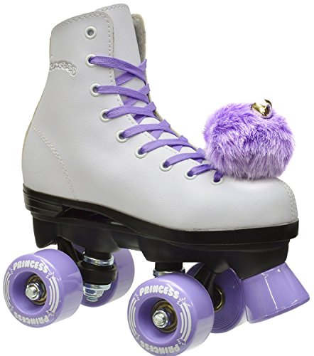 Epic Skates Purple Princess Girls Quad Roller Skates, White,...