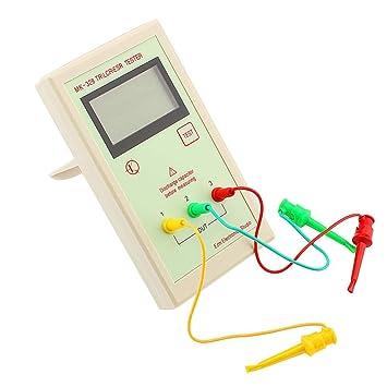 Probador de Transistores ESR Tester MK328 Medidor de Resistencia de Inductancia de Capacitancia Detector Comprobador de Condensadores ESR LCR NPN PNP LY: ...