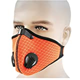 Sporting Goods : Activated Carbon Mesh Cover Dust Mask Dustproof Mask Face Mask Filtration Exhaust Gas Anti Pollen Allergy PM2.5 Air Filter Mask for Running Cycling and Other Outdoor Activities