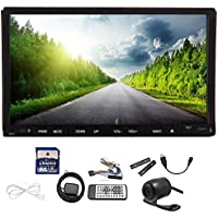 Free backup camera + Windows 8 7 Inch Double 2 DIN In Dash Car DVD Player GPS Navigation free SD map card + GPS Antenna Auto Radio Touch screen DVD/CD Radio/Bluetooth/ Car PC