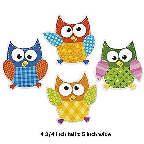 48 ~ Owl Bulletin Board Cutouts ~ approx. 4 3/4