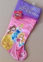 "21"" Disney Princess Cinderella, Sleeping Beauty, & Belle Pink & Purple Christmas Stocking"