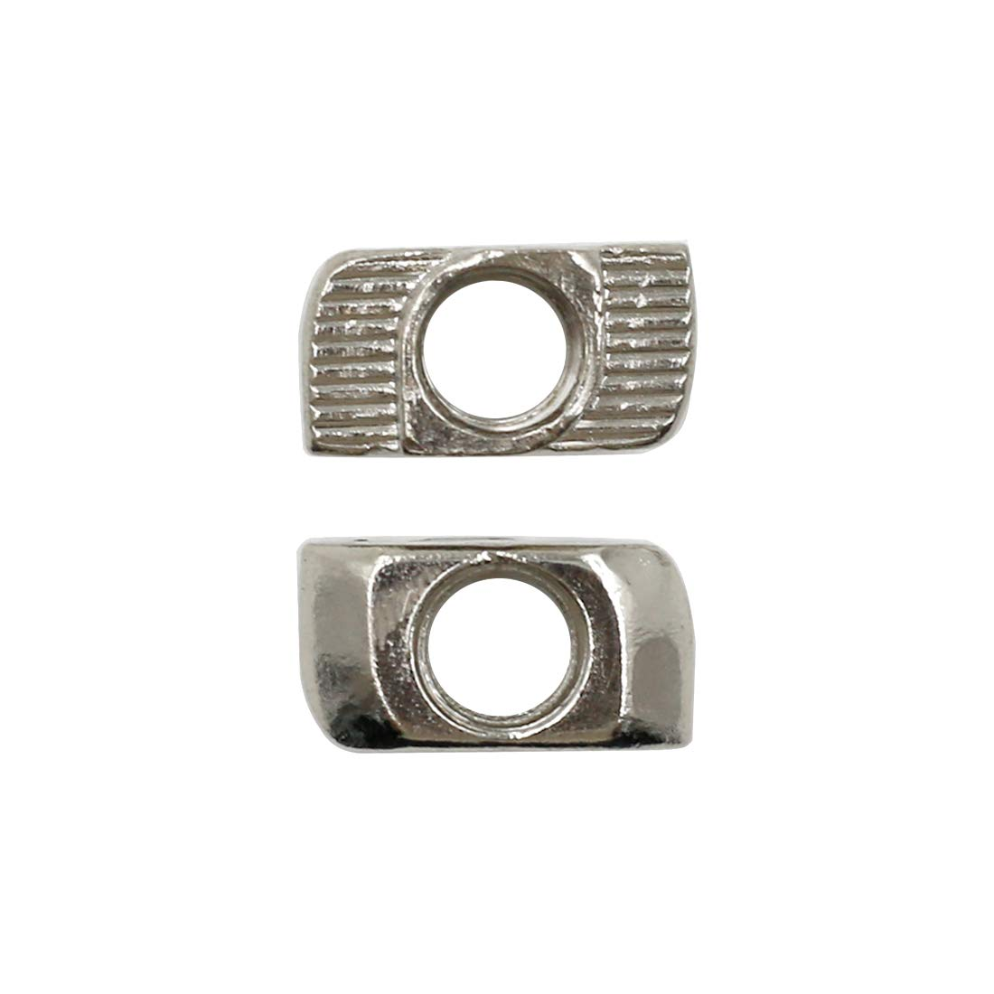 Yoohey 10PCS T Nuts 4545 Series M8 Sliding T Slot Nuts Nickel-Plated Carbon Steel Half Round Roll in T-Nut