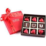 Zoroy Luxury Chocolate Milk Chocolate Saying I Love You And Hearts - 9 Pcs - 90 Grams
