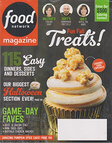 Food Network October 2017 Fun Fall Treats - 115 Easy Dinners, Sides and Desserts ()