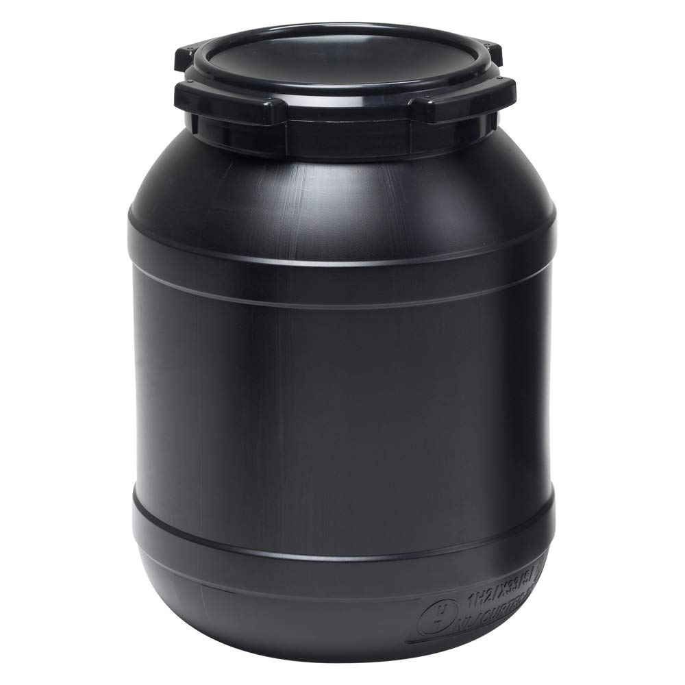6.9 Gallon Wide Mouth Stackable HDPE Drum w/Lid