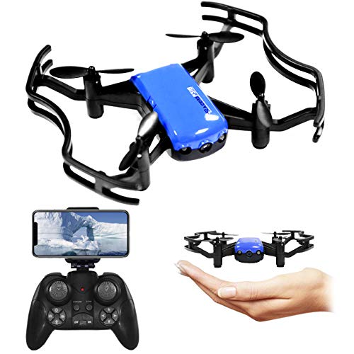 The perseids Mini RC Drones, FPV Gesture Control Optical Flow Quadcopter Drone with HD Camera Live Video One Key Return 3D Flip Headless Mode Altitude Hold APP Control for Beginners Kids (Blue)
