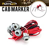 universal cab roof lights - Partsam Universal Cab Clearance Marker Roof Lights T10 Wire Wiring Harness
