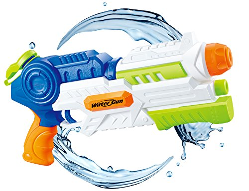 Water Blaster 1200cc Super Water Gun Moisture Capacity Party Outdoor Activity Long Effective Distance Squirt Gun Soaker for Children Adults   (Ship in USA) (Water Blaster Gun)