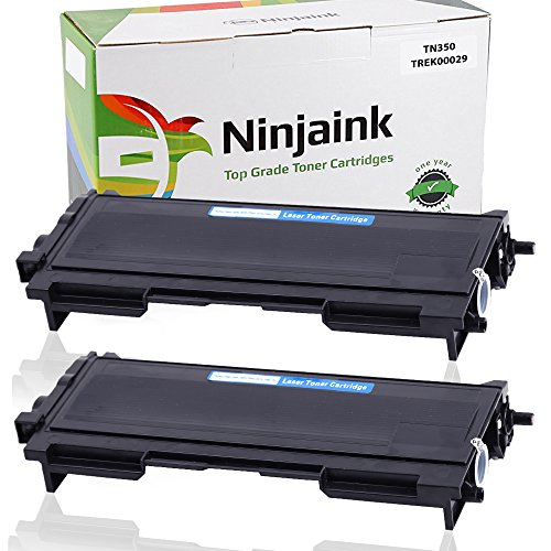 Ninjaink Compatible Toner Cartridge For Brother TN350 HL-2040 MFC-7420 Intellifax 2820 DCP-7020 HL-2070N MFC-7820N MFC-7220 DCP-7010 DCP-7025 Fax-2820 Fax-2920 HL-2030 HL-2070- High Yield 2-Pack