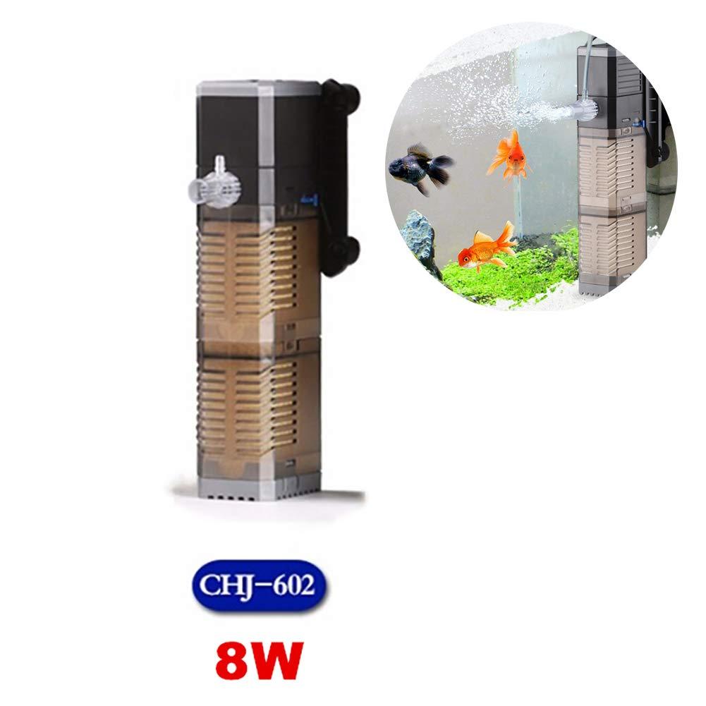 8W Internal Aquarium Filter Fish Tank Three-in-One Pump Submersible Pump Fish Tank Water Pump 7W 8W 20W 25W for Small and Medium-Sized Aquarium
