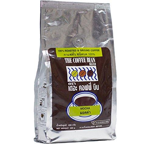 100% Roasted Mocha Ground Coffee Dark Roast, Fresh ground coffee for the perfect cup 200 g.