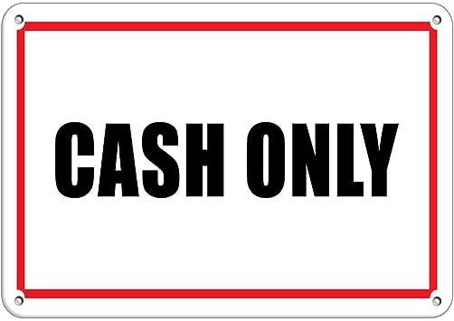 No Cash On Premise Business Sign Feature Department Vinyl Sticker Decal 8