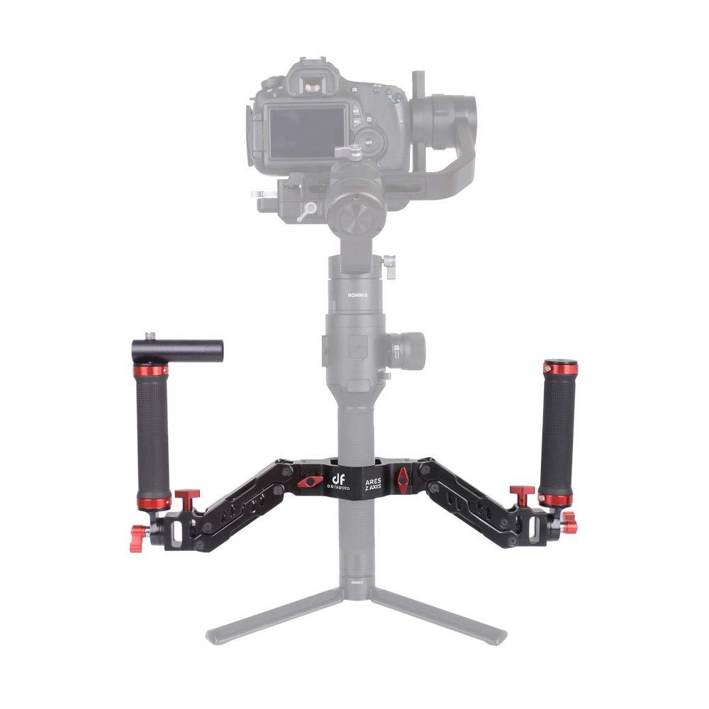 DIGITALFOTO Ares Z Axis Spring Gimbal Dual Handle,Damping Detachable Dual Grip Compatible with ZHIYUN Crane 2, DJI Ronin S, FEIYU AK2000/4000, Moza Air 2 and More 3 Axis Gimbal by DF DIGITALFOTO