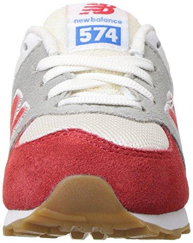 New Balance 574, Zapatillas infantil rojo y blanco