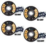 S SATC 20 Pack Flap Discs 40/60/80/120 Grit