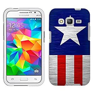 Samsung Galaxy Core Prime Case, Snap On Cover by Trek America Star Stripes Case