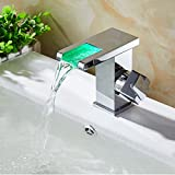 AWXJX Copper Hot and Cold Washbasin Toilet Waterfalls Led Sink Taps