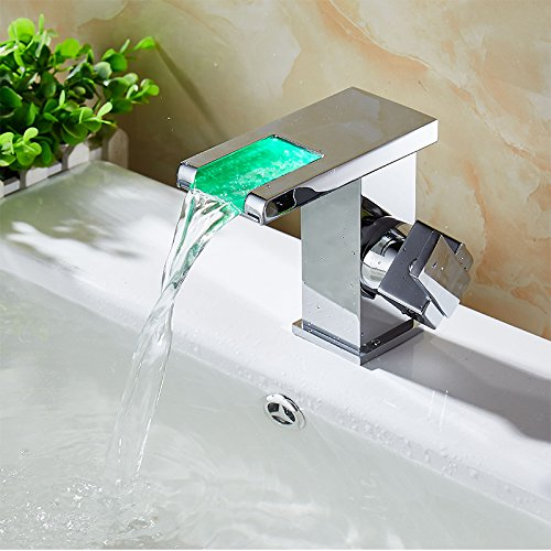 AWXJX Copper Hot and Cold Washbasin Toilet Waterfalls Led Sink Taps by AWXJX Sink faucet