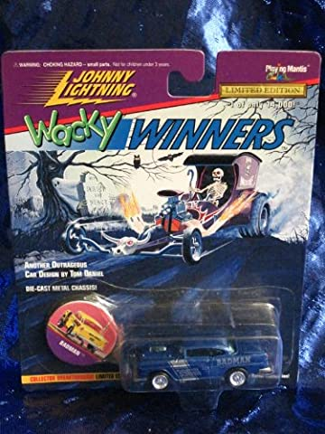 Johnny Lightning Wacky Winners Badman Limited Edition Die Cast Vehicle - 1956 Chevy Corvette