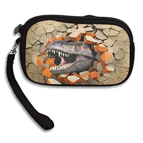 Lady Handbag Purse Handmade 3D Dinossauro Bag Wallets Zip Wristlets (Lock Classroom Brass)