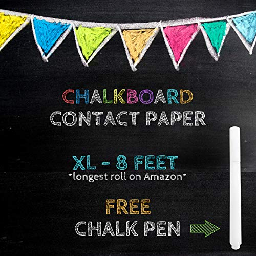 - XL Black Chalkboard Contact Paper - 8 FEET (18