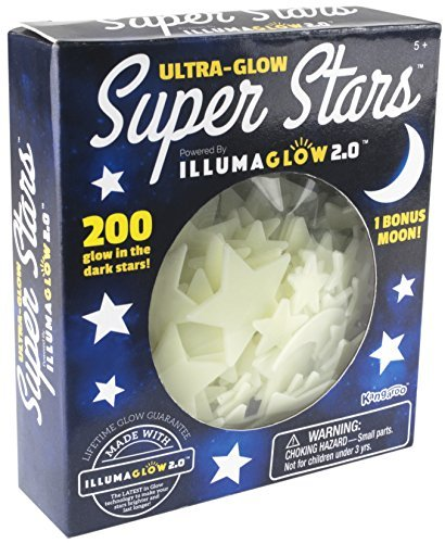(Ultra Glow in the Dark Stars; 200 Count w/ Bonus)