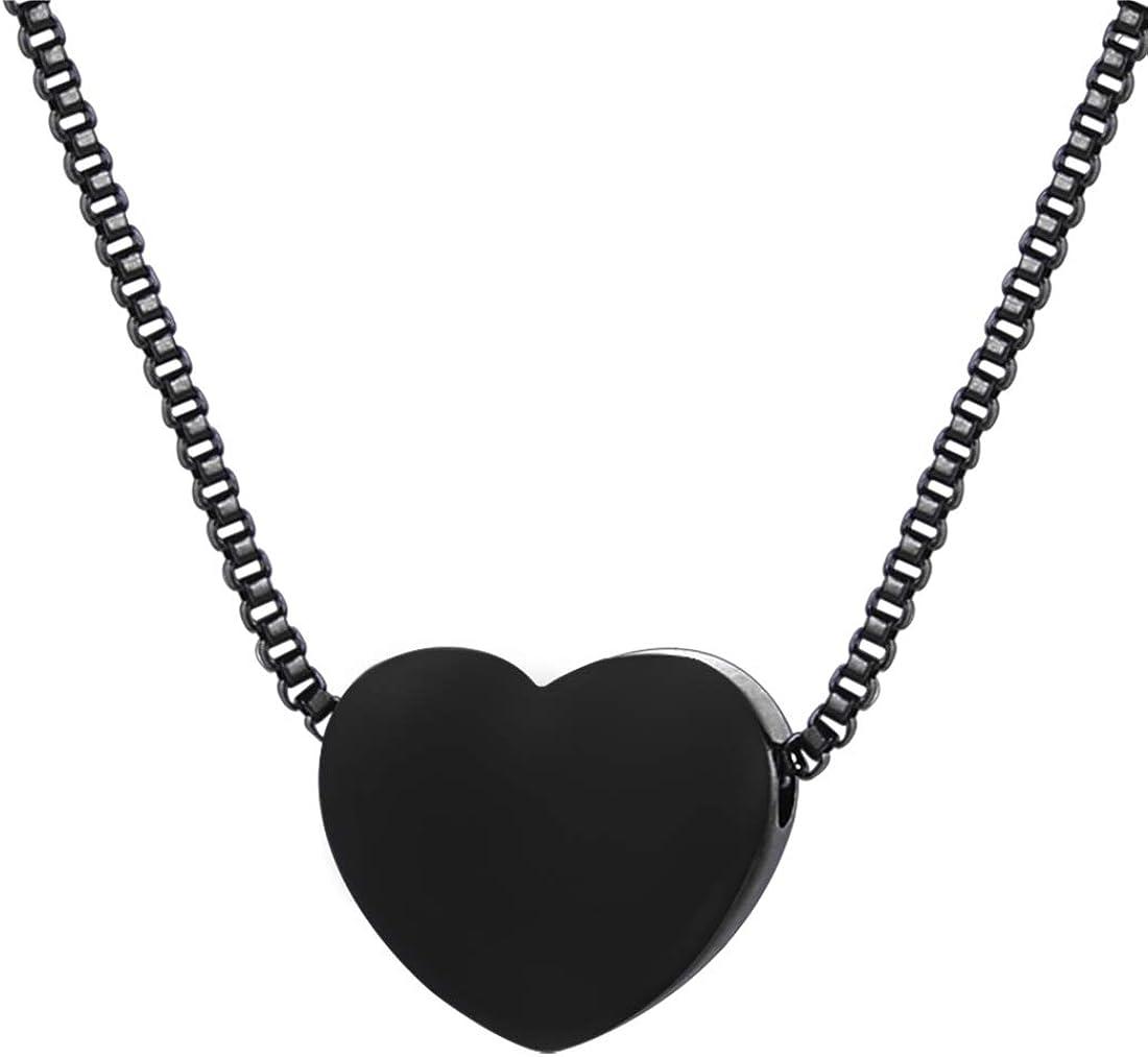 Valentines gift for her Little modern heart pendant Black heart pendant Love gift for girlfriend