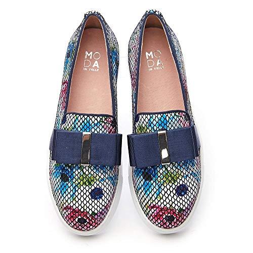 Multicolore In Femme Mode Pelle Baskets Pour Floral Moda YFwqdfY