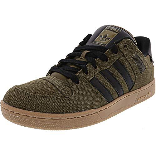 adidas Mens Bucktown Fabric Low Top Lace Up Fashion, Traoli/Black, Size 12.0