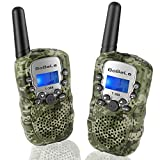 Walkie Talkie for Family as Travel Gears, Handheld 22 Channels 2 Way Radios for Adults with Mic Vox Clip Built in Flashlight Long Range Walky Talky Set for Men Women Car Trip Hiking (Camo 2 Pack)